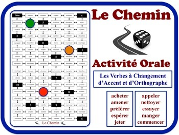 French Accent & Spelling-Change Verbs Speaking Activity. Quick Set-Up
