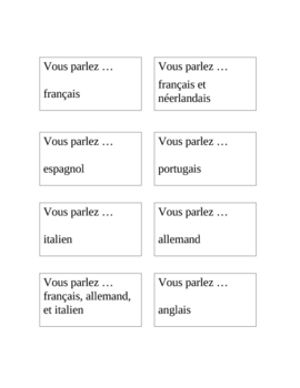 French Speaking Activity with Countries and Languages
