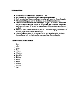 French Simple Future (Irregular) Speaking Activity (Dice, Groups)