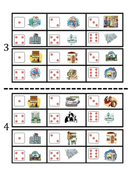 French City Location Vocabulary Speaking Activity (Dice, Groups)
