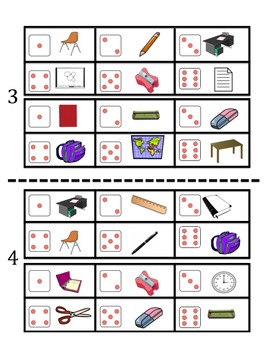French Classroom Object Vocabulary Speaking Activity (Dice, Groups)