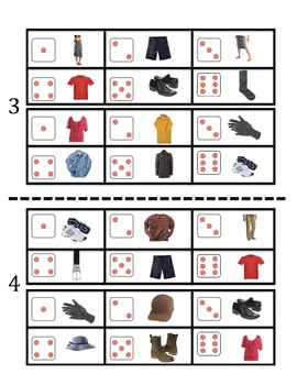 French Clothing Vocabulary Speaking Activity (Dice, Groups)