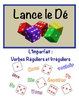 French Imperfect Speaking Activity (Dice, Groups)