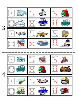 French Transportation Vocabulary Speaking Activity (Dice, Groups)