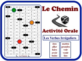 French Irregular Verbs Speaking Activity.  Quick Set-Up, No Prep (1)