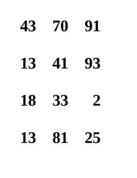 French Speaking Activity with Numbers