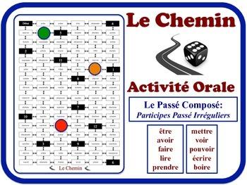 French Passé Composé (Irreg. Past Part.) Speaking Activity