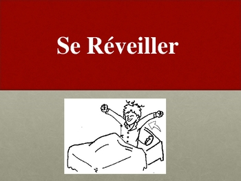 French Speaking Activity with Reflexive Verbs (Pictures)