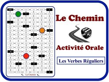 French Regular Verbs Speaking Activity.  Quick Set-Up, No Prep
