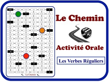 French Regular Verbs Speaking Activity.  Quick Set-Up, No Prep