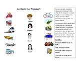 French Speaking Activity with Transportation Vocabulary