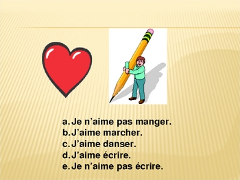 French Speaking Activity with Verbs (Great Pictures)