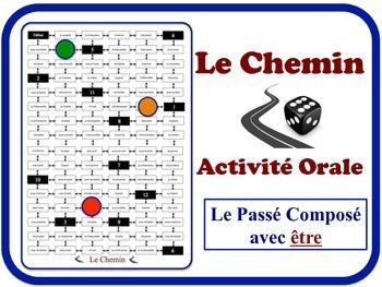 French Passé Composé (Être) Speaking Activity. Quick Set-Up, No Prep