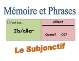 French Subjunctive Speaking Activity (Memory with Sentences)