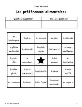 French Speaking Bingo Activity