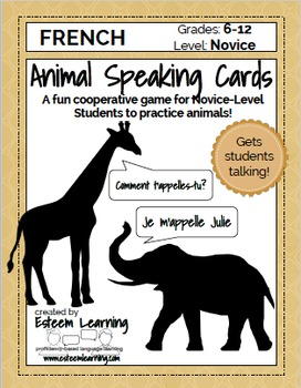 Animal Speaking Cards - French