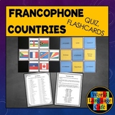 French Speaking Countries Flashcards, Francophone Countrie