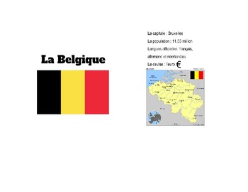 French Speaking European Country Cards