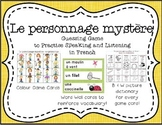 French Speaking Guessing Game:: Le Personnage Mystère- Qui
