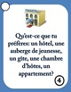 French Speaking Prompts - À l'hôtel - Hotel vocabulary