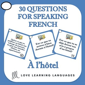 French Speaking Prompts - À l'hôtel - Hotel vocabulary