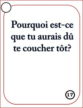 French Speaking Questions Task Cards - 8 Tense Bundle