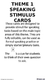 French - Speaking Stimulus Cards - Culture & Identity