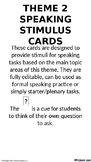 French - Speaking Stimulus Cards - National & Internationa
