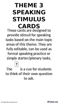 French - Speaking Stimulus Cards - Study & Employment.