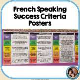 French Speaking Success Criteria Posters FREEBIE