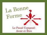 French Passé Composé (avoir + être) Speaking and Writing Powerpoint Activity