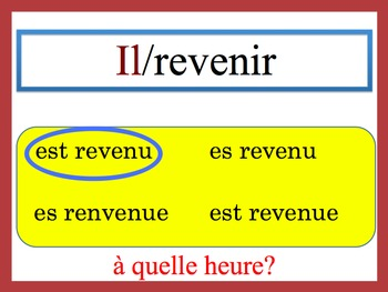French Passé Composé (être) Speaking and Writing Powerpoint Activity