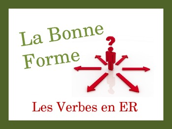 French Regular ER Verbs Speaking and Writing Powerpoint Activity