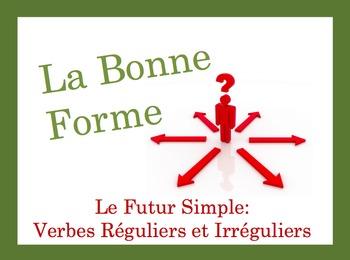 French Simple Future (Regular + irregular) Speaking and Writing Activity