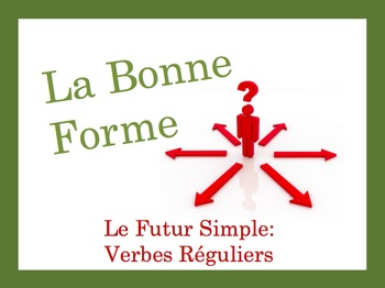 French Simple Future (Regular) Speaking and Writing Powerpoint Activity