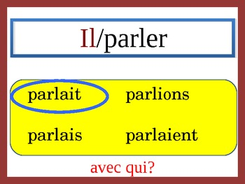 French Imperfect Speaking and Writing Powerpoint Activity