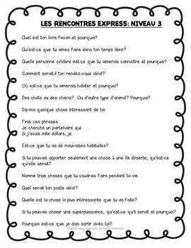 French Speed Dating