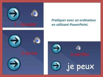 French Spelling 2/ Les dictees interactives 2:  les sons les plus fréquents