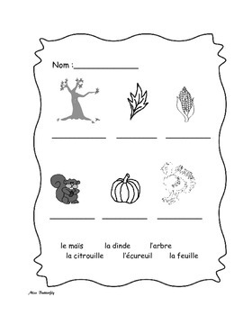 French Spelling Fall and Halloween