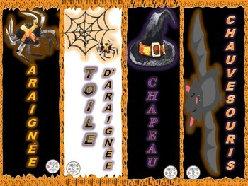 French: Spooky Halloween Bookmarks