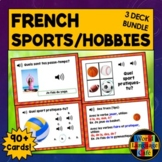 French Sports Boom Cards, French Hobbies Boom Cards Bundle