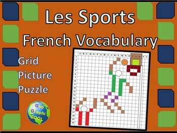 French Sports Grid Picture Puzzle
