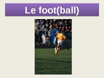 French Sports PowerPoint