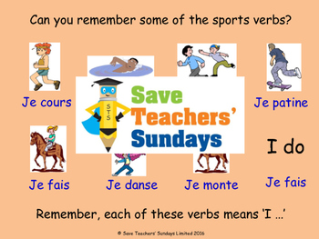 French Sports Unit (6 lessons) - All lessons have AUDIO clips