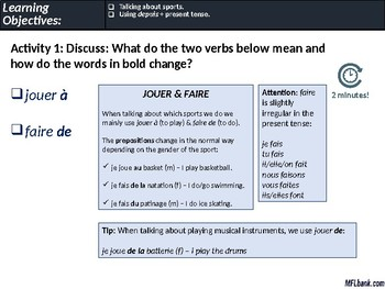 French - Sports, Using Depuis + Present Tense