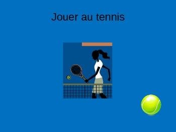French Sports Vocabulary Powerpoint PPT Jouer au sport