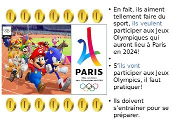 French Sports comprehensible input story and activities