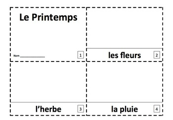 French Spring 2 Emergent Reader Booklets - Le Printemps