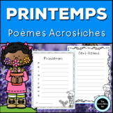 French Spring Acrostic Poems | Poèmes Acrostiches Printemp