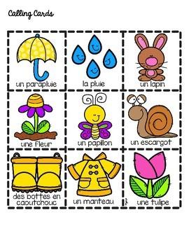 French Spring Bingo